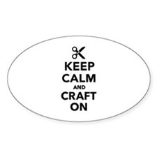 Keep calm and craft on Decal