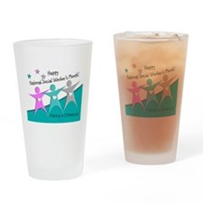 Happy social workers month 2 Drinking Glass