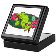 Tropical Lizard Keepsake Box