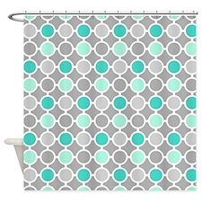 Aqua And Grey Shower Curtains Aqua And Grey Fabric Shower Curtain Liner