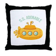 S.S. Adorable Throw Pillow