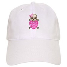 World's Greatest MOM Goth Skull Baseball Cap
