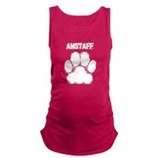 AmStaff Distressed Paw Print Maternity Tank Top