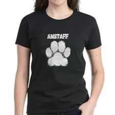 AmStaff Distressed Paw Print T-Shirt