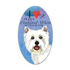 Westie Oval Car Magnet