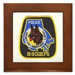 Baltimore Police K-9 Framed Tile