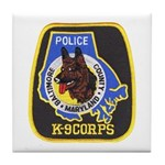 Baltimore Police K-9 Tile Coaster