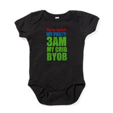 Customized My Party 3Am My Crib Byob Baby Bodysuit