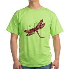 Red Dragonfly Design T-Shirt
