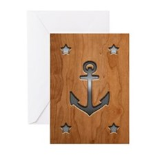 anchor-wood-PLLO Greeting Cards