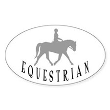 """Equestrian"" Oval Decal"