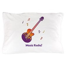Personalized Fire Guitar Pillow Case