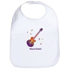 Personalized Fire Guitar Bib