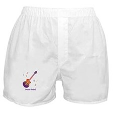 Personalized Fire Guitar Boxer Shorts