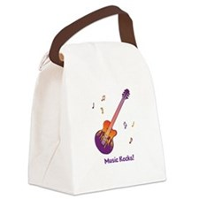 Personalized Fire Guitar Canvas Lunch Bag