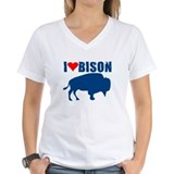 I LOVE BISON SHIRT animals,bi Shirt