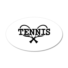 Tennis rackets 20x12 Oval Wall Decal
