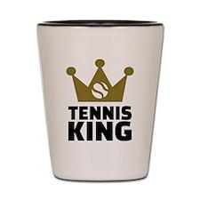 Tennis king crown Shot Glass