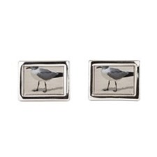 Laughing Gull Standing on a Beach Cufflinks