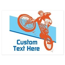 Custom Motocross Bike Design Invitations
