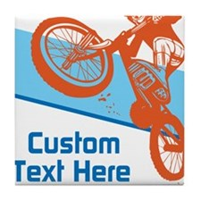 Custom Motocross Bike Design Tile Coaster