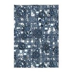 Steampunk Panel - Steel 5'x7'Area Rug