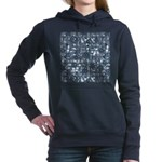 Steampunk Panel - Steel Women's Hooded Sweatshirt