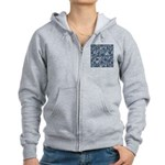 Steampunk Panel - Steel Women's Zip Hoodie