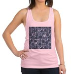 Steampunk Panel - Steel Racerback Tank Top