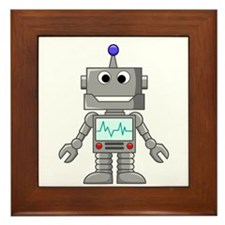 Happy Robot Framed Tile