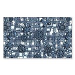 Steampunk Panel - Steel Sticker (Rectangle 50 pk)
