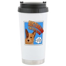 Red Heeler Super Hero Travel Mug