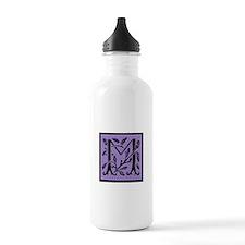Purple Fleur Monogram Water Bottle
