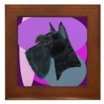 Giant Schnauzer Design Framed Tile
