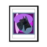 Giant Schnauzer Design Framed Panel Print