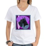 Giant Schnauzer Design Women's V-Neck T-Shirt