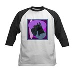 Giant Schnauzer Design Kids Baseball Jersey