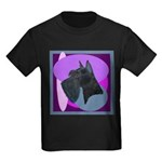 Giant Schnauzer Design Kids Dark T-Shirt