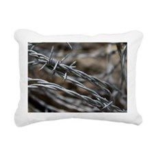 Barbed Wire Rectangular Canvas Pillow