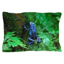 Blue Poison Dart Frog Pillow Case