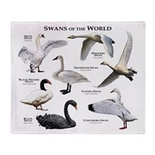 Swans of the World Throw Blanket