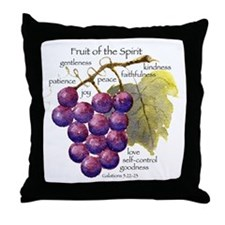 'Fruit of the Spirit' artwork by vick Throw Pillow