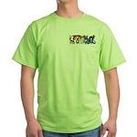 Fire Drake and Sea Serpent Green T-Shirt