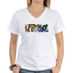 Fire Drake and Sea Serpent Women's V-Neck T-Shirt