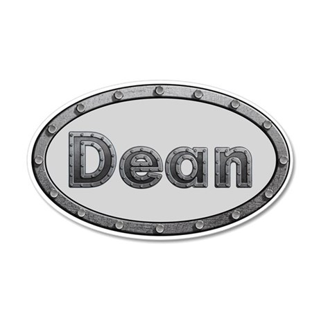 Dean Metal Oval 35x21 Oval Wall Decal