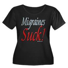 neg_migraines_suck3 Plus Size T-Shirt