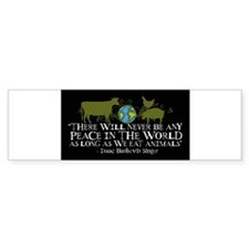 never_be_peace_wide_stickers_black Bumper Bumper Sticker