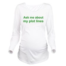 askplotlines_green_bs.png Long Sleeve Maternity T-