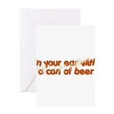 In Your Ear Greeting Card