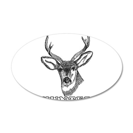 Deer Hunter Hunting 20x12 Oval Wall Decal